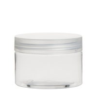 New product 120ml 4oz Clear new design plastic food jar screw cap
