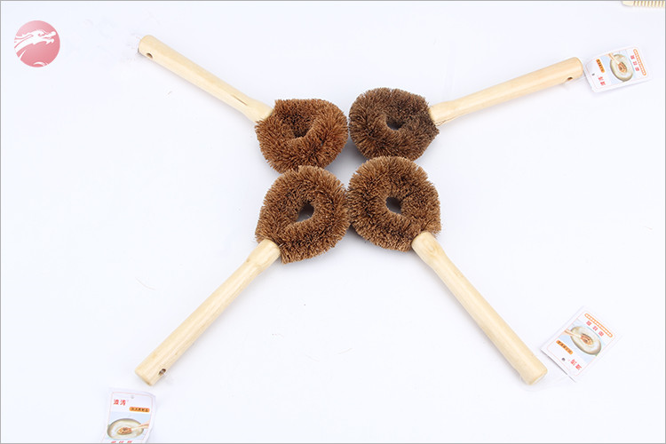 Rotary coconut brush/natural kitchen pot cleaning brushes