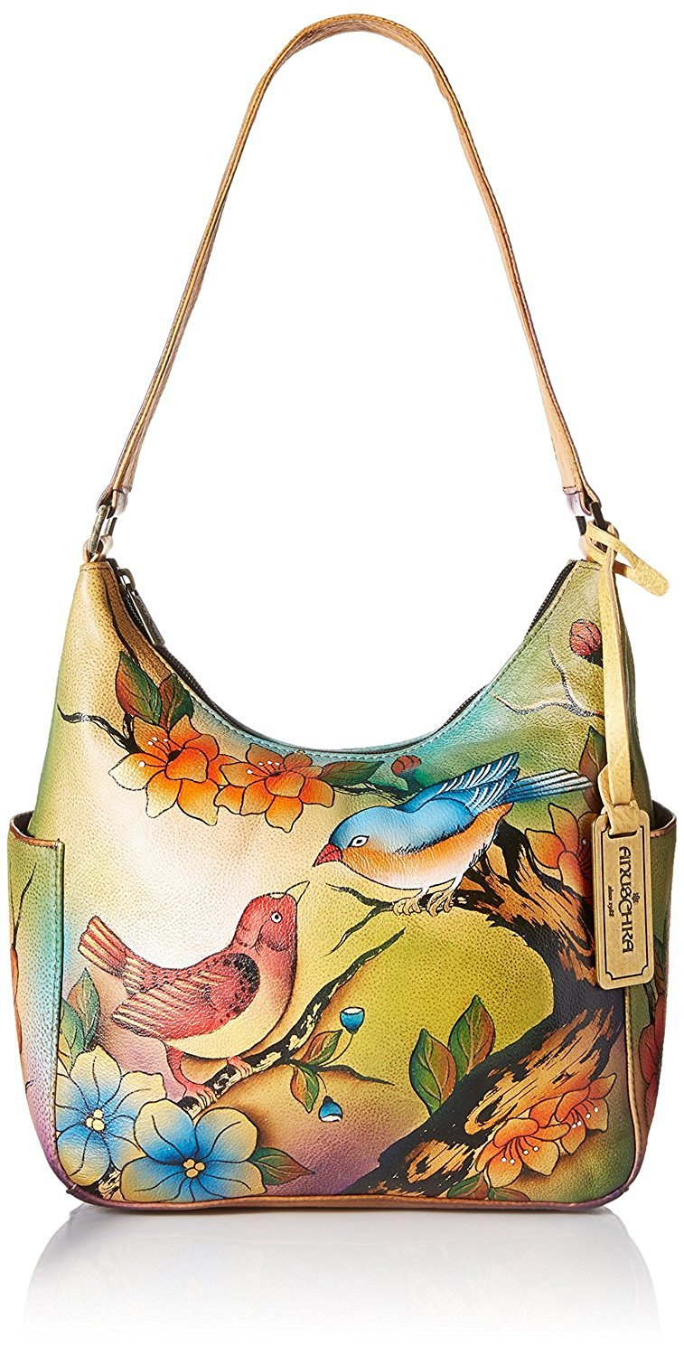 Get Quotations · Anuschka Classic Genuine Leather Handpainted Hobo abbc47a6079bf