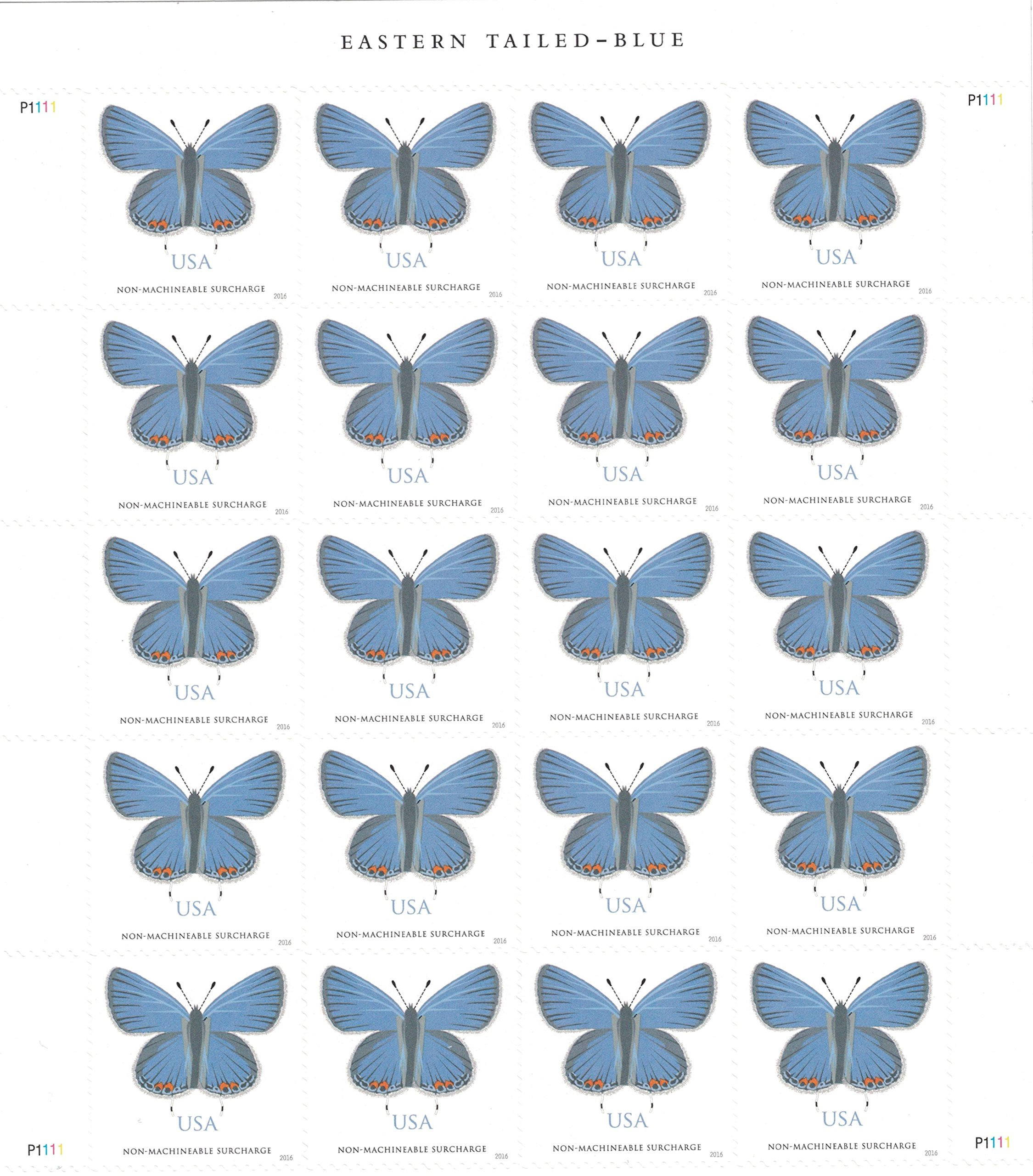 Get Quotations Usps Eastern Tailed Blue Sheet Of 20 Stamps Two Ounce Forever
