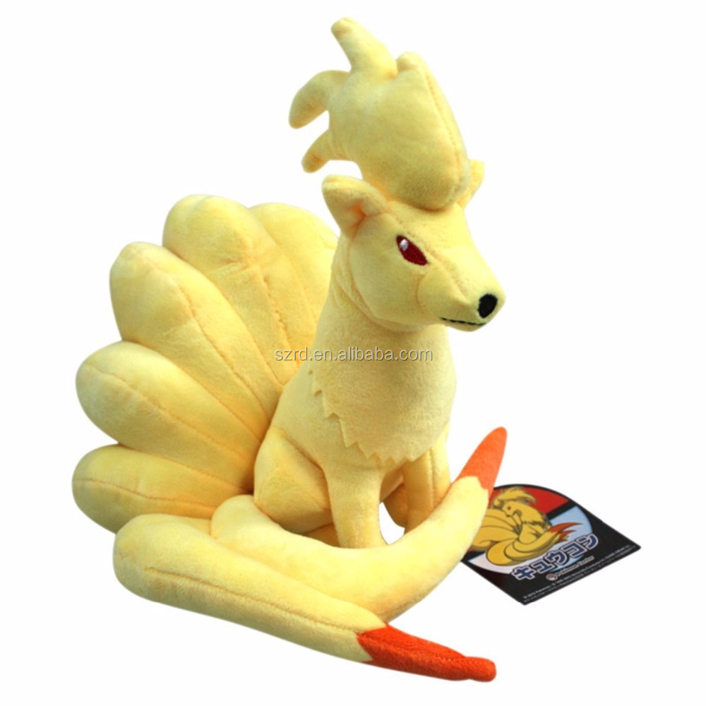 Pokemon Nine-tailed Fox Plush Toy Stuffed Animal with a Free Badge As Gift by Generic