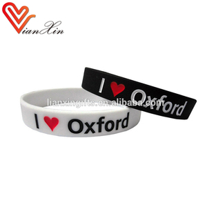 OEM Cheap Custom Debossed rubber silicone wristband