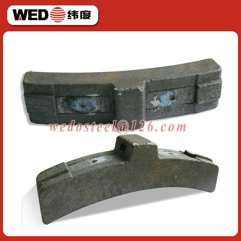 WEDO railway composite brake shoes for rail system