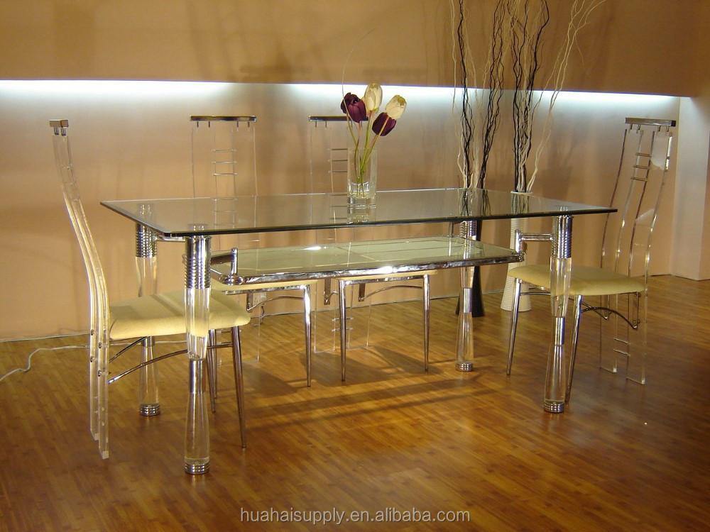 Hogar y restaurante muebles establece acr lico mesa de for Sillas de acrilico