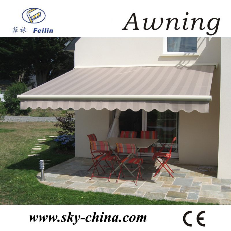 Retractable awning conservatory metal roof awning