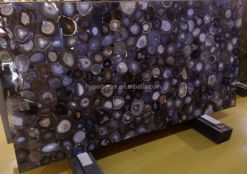 Blue gemstone agate slabs tiles