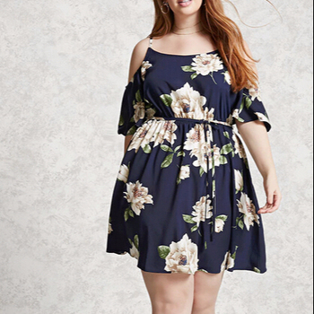Plus Size Cold Shoulder Floral Print Maxi Dress - Buy Plus Size  Dresses,Floral Maxi Dress,Plus Size Women Clothing Product on Alibaba.com