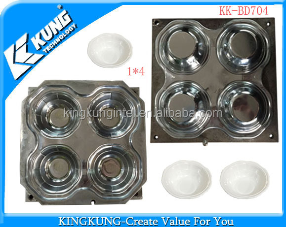1*4 cavity customized Melamine bowl Compression mold