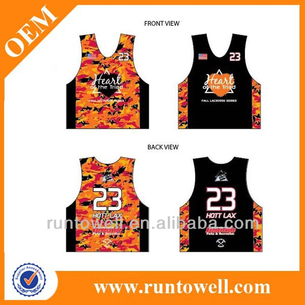 lacrosse top, team lacrosse reversibles/pinnies