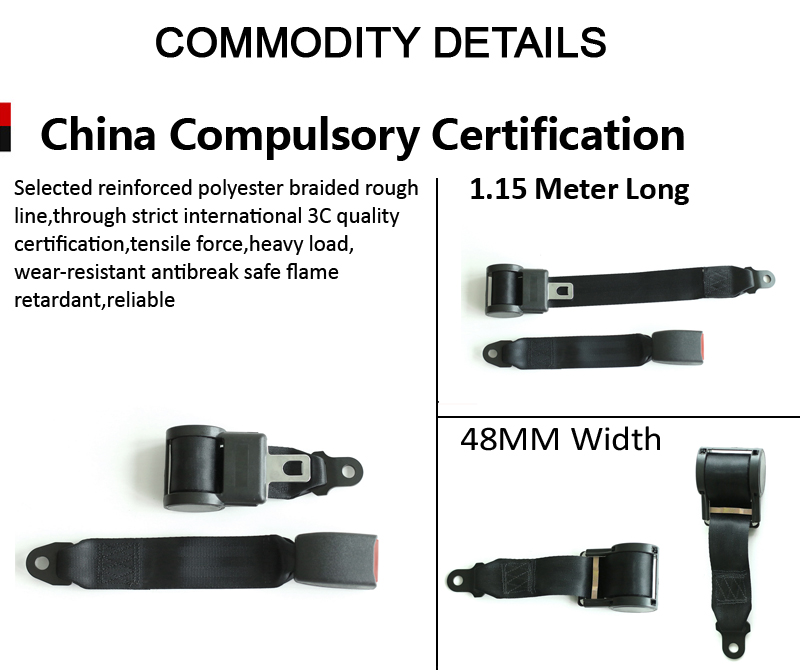 2 point auto seat buckle belt seat belt by manufacturers, Two Point Seatbelt