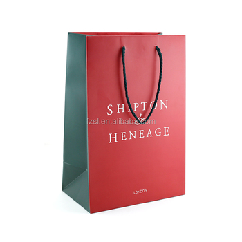 LPB219 coated luxury custom made logo printing dress retail paper shopping bag with rope handle