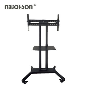 Metal New Pattern Adjustable Movable Mobile TV Cart Stand