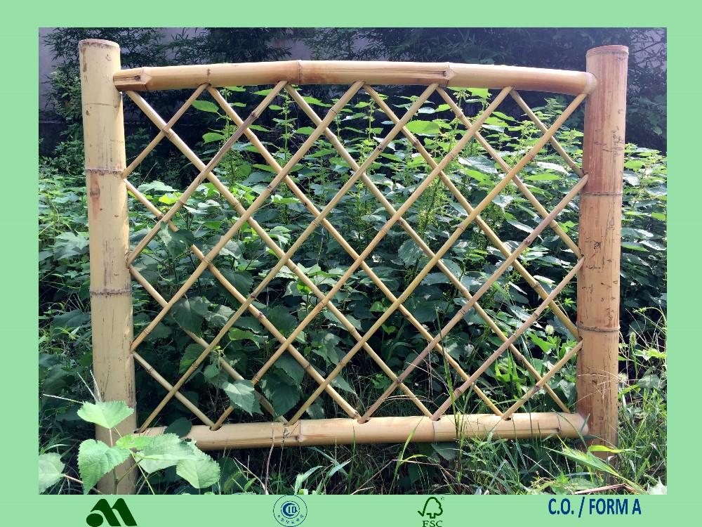 Bamboe fencing panel bamboe balustrade tuin hek muur raiiling buy product on - Bamboe hek ...
