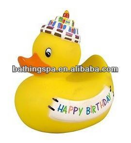 Hot selling happy birthday rubber animals