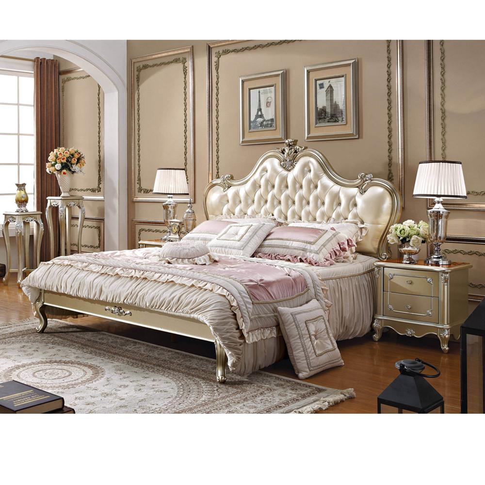Foshan factory European antique king size bedroom furniture set ...