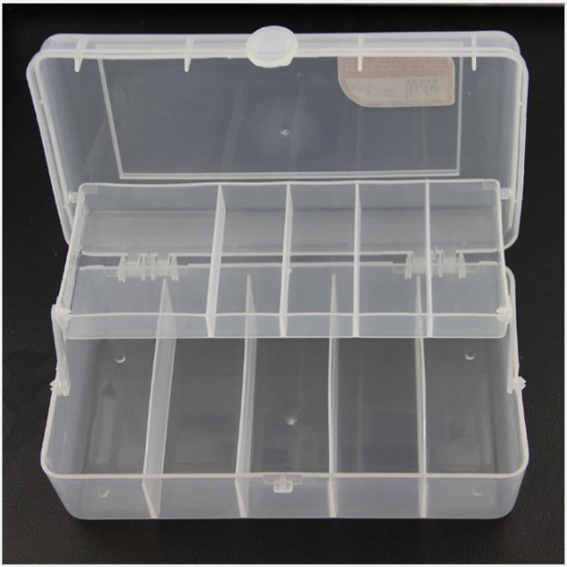 20 Cm * 10 Cm * 6 5 Cm 2 Vassoi 10 Scomparti Pesce Tackle Box Richiamo Di  Pesca Di Plastica Scatola Di Immagazzinaggio Accessori Per La Pesca  Organizer