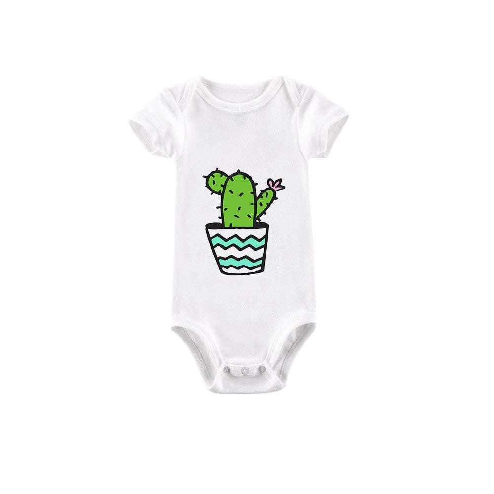 a85845bb1dd Wintefei Infant Baby Boys Girls Newborn Cotton Summer Cartoon Cactus Cute  Romper Jumpsuit