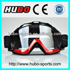 Two tone color frame with anti silicon slip strap mx motorcycle goggles