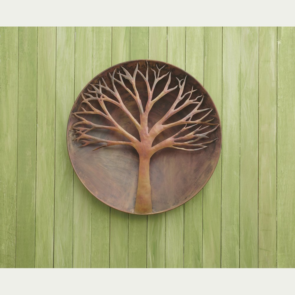 Ancient Graffiti ANCIENTAG83241 Raised Tree Flamed Wall Disc - 24 In.
