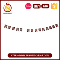Promotional felt christmas decoration garland for party