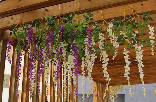 Long Stem Artificial Wisteria Flowers For Wedding