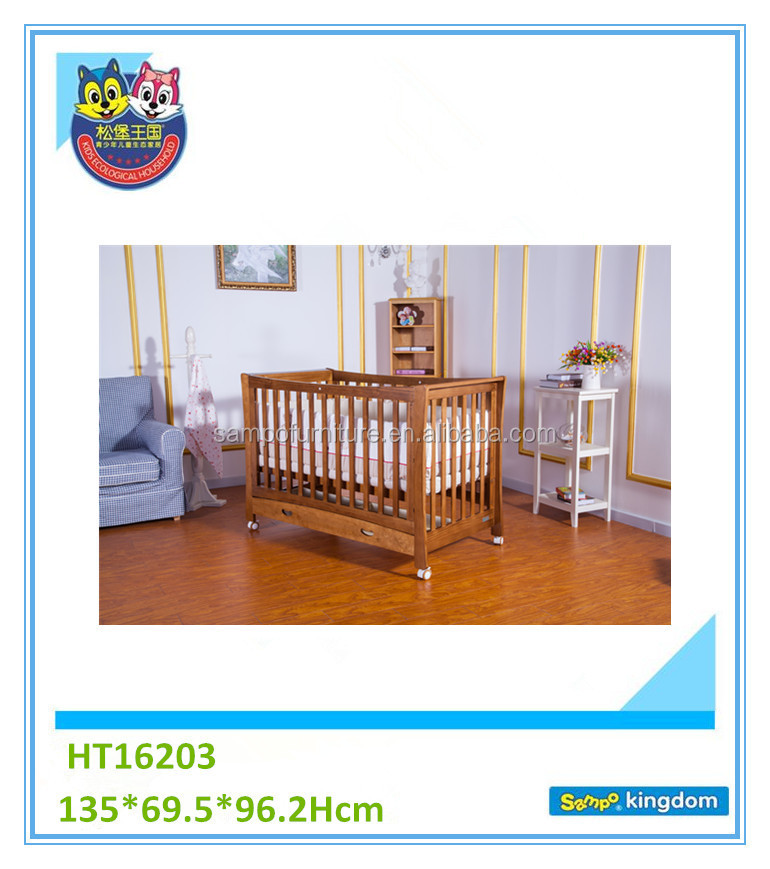 carved teak wood baby swing cradle portable cot baby bed crib