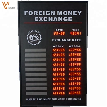 Foreign Currency Exchange Led Indoor Display \ Led Digital Currency Rate  Board - Buy Exchange Rate Board,Bank Exchange Rate Board,Electronic Visual