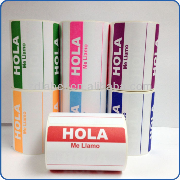 Hola Me Llamo Spanish Name Tag Labels Stickers