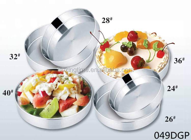 China Wholesale Stainless Steel 410 Serving Round Tray Suppliers ...
