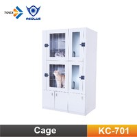 KC-701 Heavy Duty Cat Condo Double-Deck Pet Kennel Cages