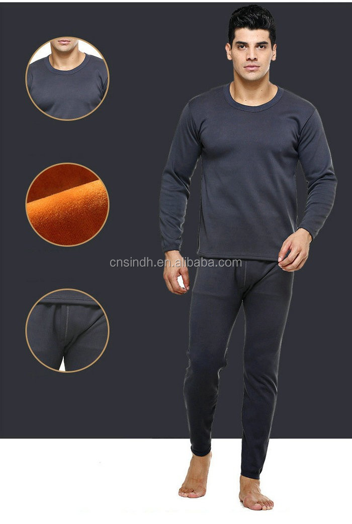 Hot Selling Rounded Neck New Style Warm Long Man Thermal Underwear