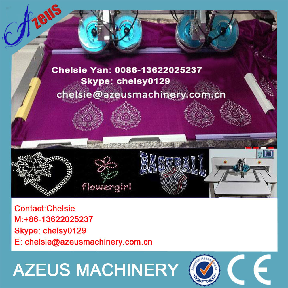 Fast working speed Apparel Machinery Automatic Rhinestone Machine for T-shirt