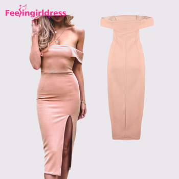 7e1a5aec638f Drop Shipping Lovely Pink Sexy Mature Ladies Off Shoulder Mother Daughter  Matching Dress
