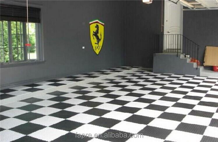 Anti Fatigue Floor Mats Interlocked PVC Weight Lifting Floor Mat Vinyl  Tiles Garage Flooring