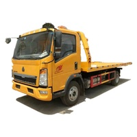 SINOTRUK HOWO 4x2 flatbed road wrecker tow truck for sale south africa