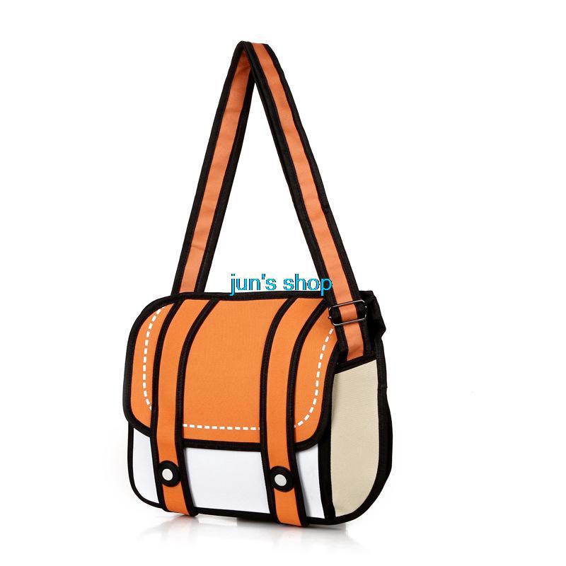 Новинка 3D перейти стиль 2D рисунок мультфильм бумаги комиксов сумка