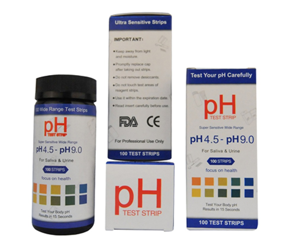 Ph body test strips