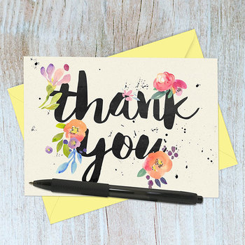 Thank You Cards 100 Floral Thank You Notes For Your Wedding Baby