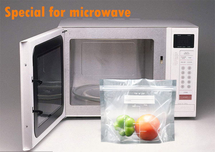 50% Shipping Off US Microwave Oven Bag Stand Up Clear Pouch With Zipper