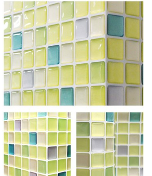 Fresh Green Mosaic 3d Wall Stickers 2 Sheets Backsplash Wallpaper Home Decor Fire Retardant Bathroom Kitchen Diy 2 0 Buy Beaustile Fresh Green Mosaic 3d Wall Stickers Home Decor Wallpaper Kitchen And Bathroom Cleaner
