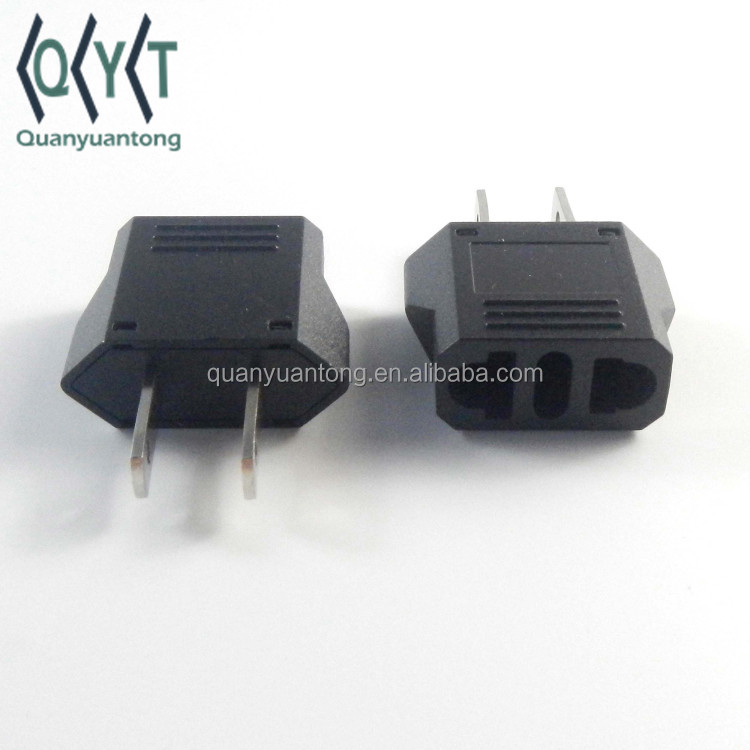 usa wall plug in eu au to us adapter 9121-1 two flat pins American plug