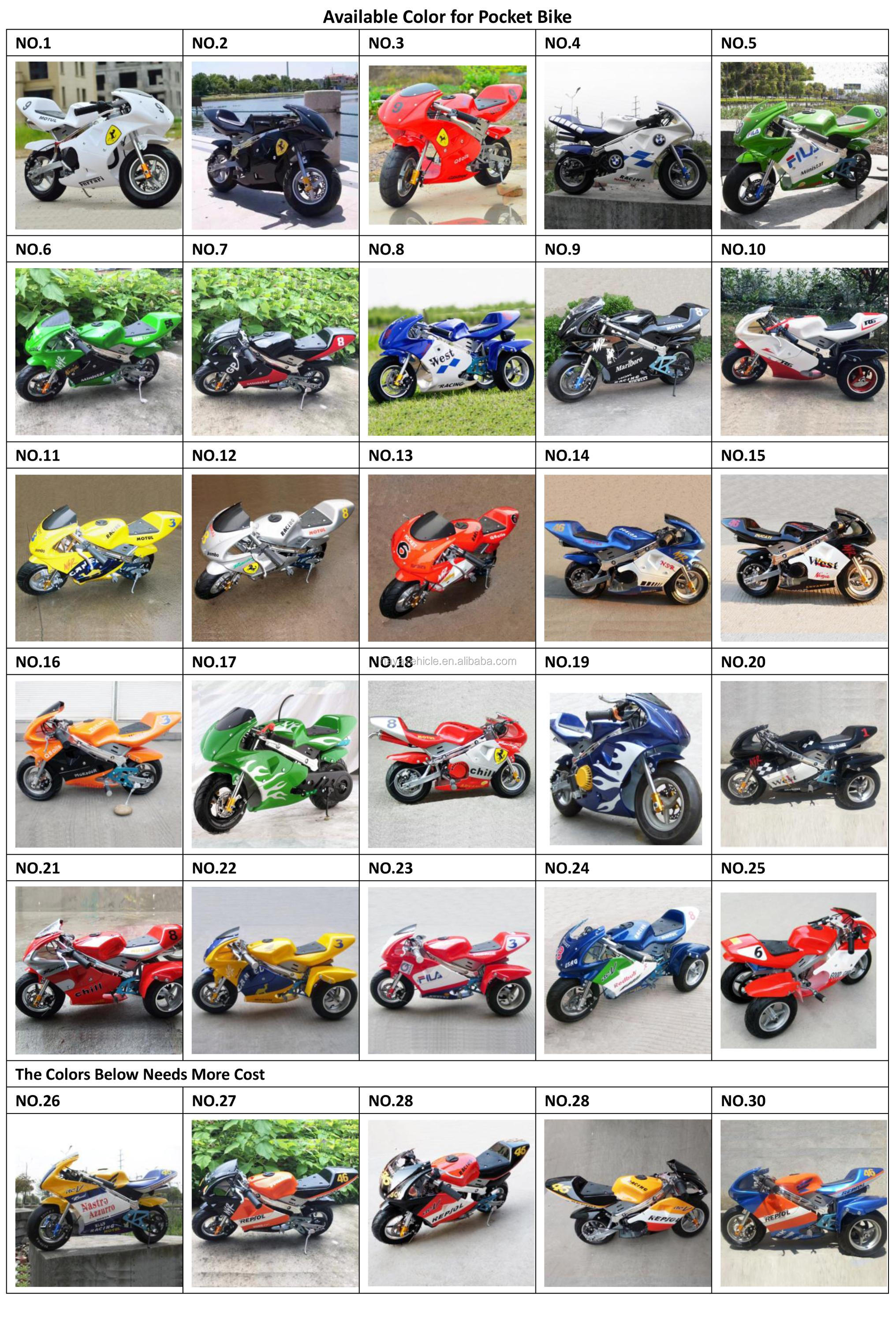 High Quality Racing Pocket Bike Mini Bike 49cc