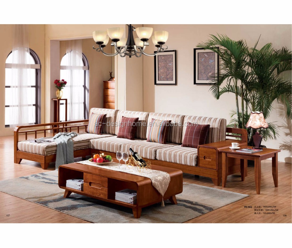 wood furniture design sofa set,wood sofa furniture,solid