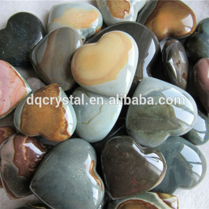 carving heart shaped rocks polished ocean agate heart for sale