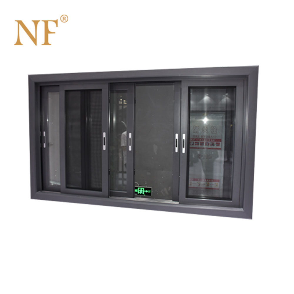 triple track insulated aluminum sliding window
