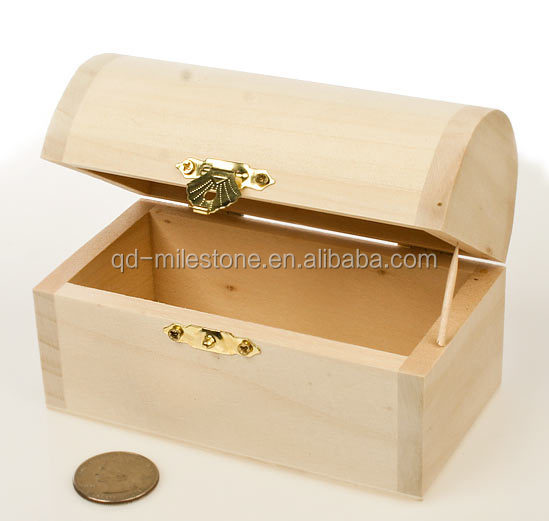 Cheap and nice unfinished wood craft boxes with slide lid for Unfinished wooden boxes for crafts