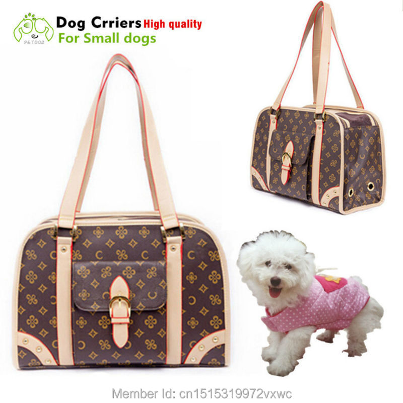 Luxury Dog Carrier For Small Dogs Cats Pet Carrying Bags Leather Slings Chihuahua Puppy Handbags In Carriers Strollers From Home Garden On