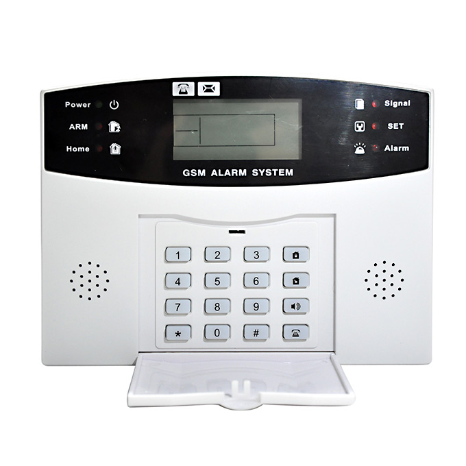 Wireless Voice Control Metal Remote Control Door Security Sensor In-Home <strong>Alarm</strong> Systems GSM Lcd Wired Siren SIM Kit SMS <strong>Alarm</strong>