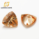 Manufacture direct high quality fat triangle shape champagne cubic zirconia loose gemstone