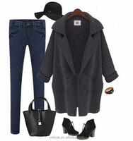 2015 Free Shipping European Style Ladies Knit Cardigan Long Coat Design